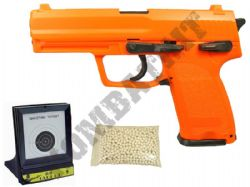 BUNDLE DEAL HA112 Airsoft BB Gun 2 Tone Orange Black plus Target and 1000x20g Pellets